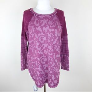 Free People Cranberry Pullover Long Sleeve Top SM